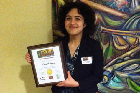 Poetry Out Loud State Champion Emily Rodriguez advances to the national competition in Washington, D.C.