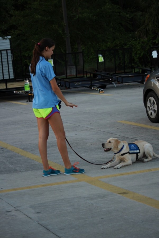 Humans of Academy: Devin Folkman and Julianne Nichter raising Southeastern Guide Dogs
