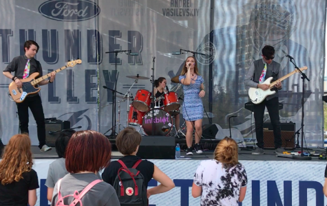 Academy student's band Inkblot Performs at the Lightning Game