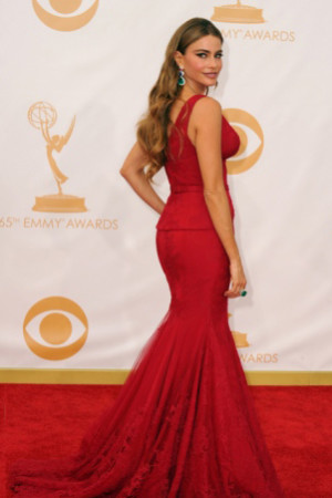 Sofia Vergara looking fabulous on the red carpet at the Emmys 2013