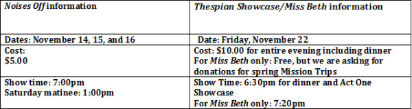 fall theatre sched