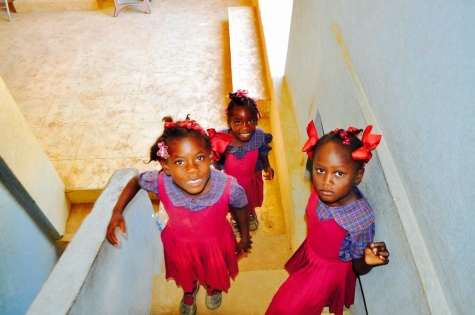 Some of the children in St. Suzanne, Haiti