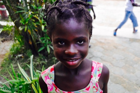 One of the happy children from St. Suzanne, Haiti