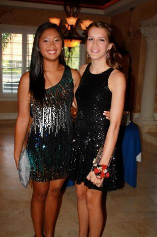 Peyton Maddox and Anna De Guzman both flaunt sparkly sequin dresses.