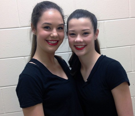 Not only are they identical, they're both dancers!  Kelsea (Left) and Maddie (Right)