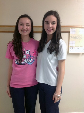 These freshman have been asked multiple times if they're twins. Melanie (Right) and Lauren (Left)