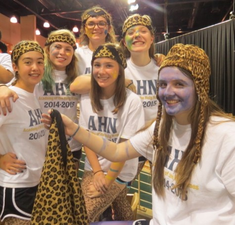 Sophomores Anna Padron, Laura Henry, Kendall Perez, Shannon Flaharty, Annemarie Heath, and Grace Neal are six of the many students who attended to cheer on the Jags.