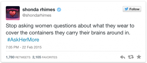 Shonda Rhimes shares her thoughts on the trending campaign #AskHerMore