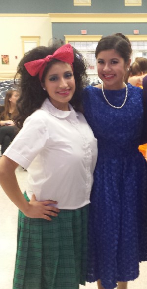 """""""Tracy"""" and """"Amber"""" pose after their show!"""