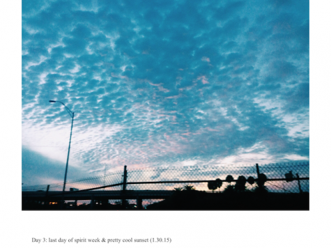 Here, Anello captured a shot of the sunset one evening.