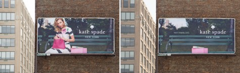 Kate Spade participates in this fight for gender equality by removing the women off of thier bilboards and replacing them with Not-There.org