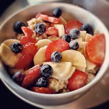 Any fruit and oatmeal of your choice to spark up your mood for an early Monday morning.