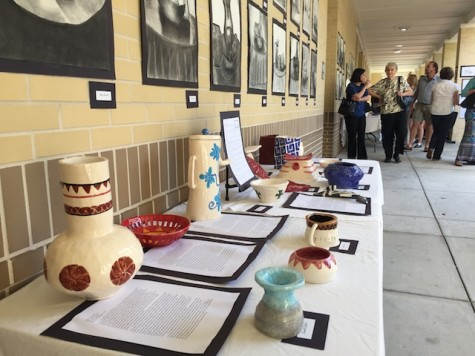 Work created by Ms. Franklin's ceramic students.