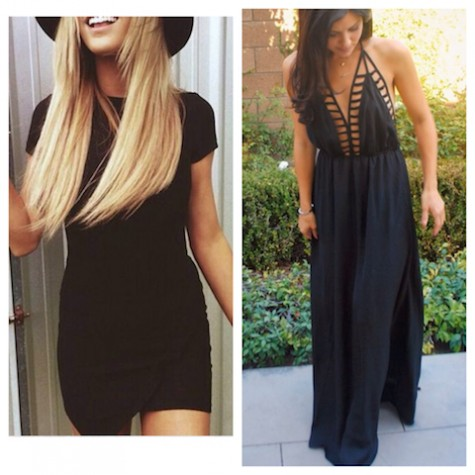 Night Outfit examples from Pinterest