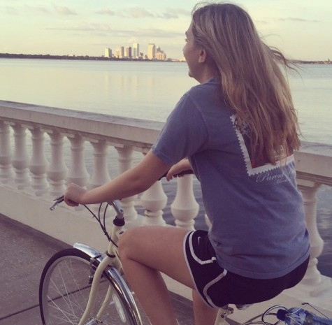 Grace enjoys outdoor actives such as biking with her sisters.