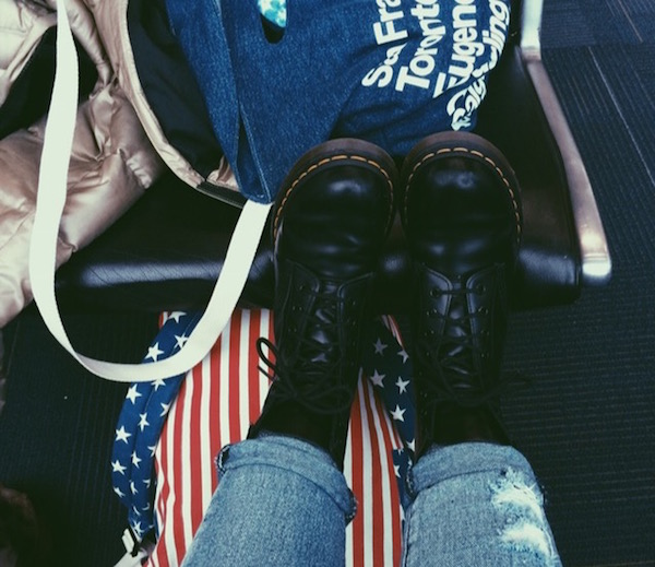 Karlee loved sporting her come-back Doc Martens on the March for Life trip last year.