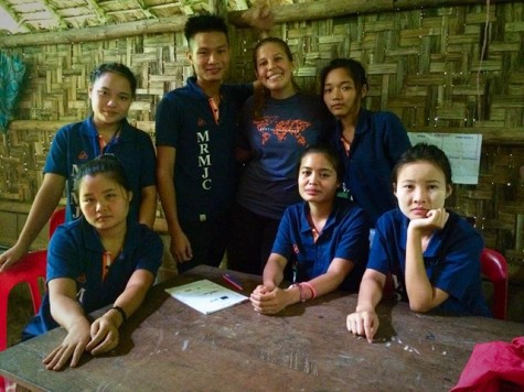 """Photo Credits: Julia DiFabrizio DiFabrizio described the Junior College students as """"so kind and hopeful despite coming from a war-torn country."""""""