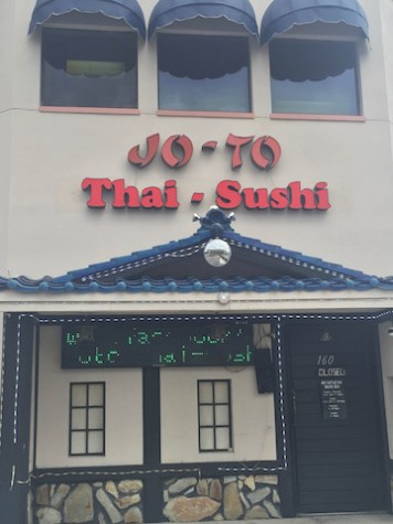 JoTo Thai-Sushi is located on 310 S Dale Mabry Hwy, Tampa, FL 33609. JoTo Thai-Sushi Hours: Monday:11:30-2:30pm, 5:00-10:00 pm Tuesday: 11:30-2:30pm, 5:00-10:00 pm Wednesday: 11:30-2:30pm, 5:00-10:00 pm Thursday: 11:30-2:30pm, 5:00-10:00 pm Friday: 11:30-2:30pm, 5:00-10:30 pm Saturday: 5:00-10:30 pm Sunday: 5:00-10:00 pm Credit: Jacqueline Brooker
