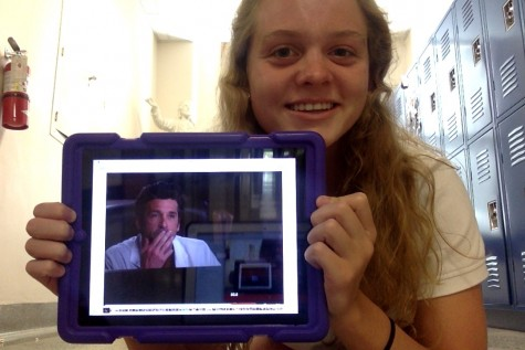 """I'm not sure what I would do without McDreamy."" claims Sophomore Bella Kirkpatrick. Photo Credit: Audrey Diaz"