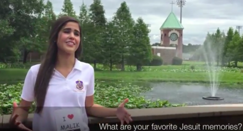 "Homecoming Court member Isabella Alfonso explains that one of her favorite Jesuit memories is ""coming together as a team and beating TC, together, for 15 years, as one."""