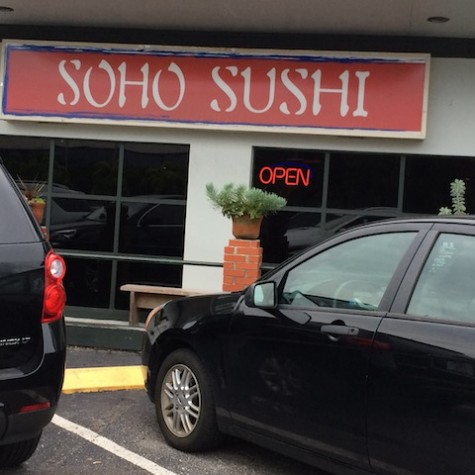 Soho Sushi is located on 3218 W Kennedy Blvd, Tampa, FL 33609 Soho Sushi Hours: Monday: 11:30-2:00pm, 5:00-10:00 pm Tuesday: 11:30-2:00pm, 5:00-10:00 pm Wednesday: 11:30-2:00pm, 5:00-10:00 pm Thursday: 11:30-2:00pm, 5:00-10:00 pm Friday: 11:30-2:00pm, 5:00-10:30 pm Saturday: 5:00-10:30 pm Sunday: Closed Credit: Jacqueline Brooker