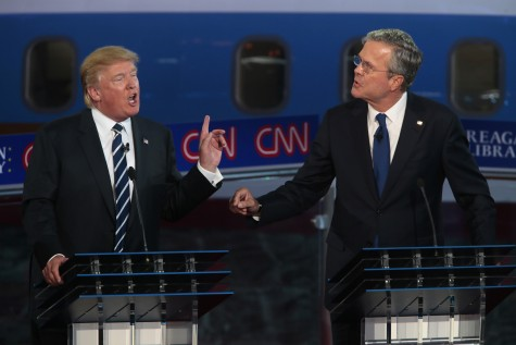 Donald Trump and Jeb Bush during the GOP debate.