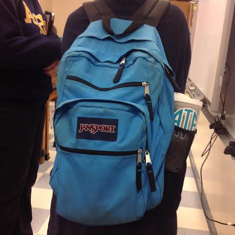 Adri Torres displays her teal backpack with matching Tervis!