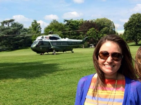 Attending a viewing of a Marine One Departure - Marine One is the helicopter that the President flies in for short distance air travel, often to Andrews Air Force Base to board Air Force One.