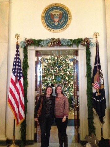 With my sister - and fellow AHN alum! - Alyssa Lester (Class of 2007) at the 2013 White House Christmas Tour.