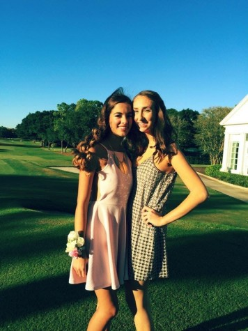 Olivia Porcaro (11) pictured with her good friend, Riley Rubio (11) at Palma Ceia Country Club on the day of Homecoming!