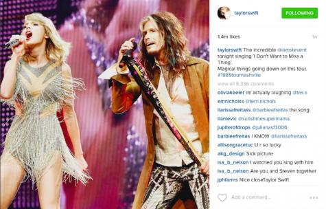 Steven Tyler was a guest at Swift's Nashville tour Credit: Taylor Swift
