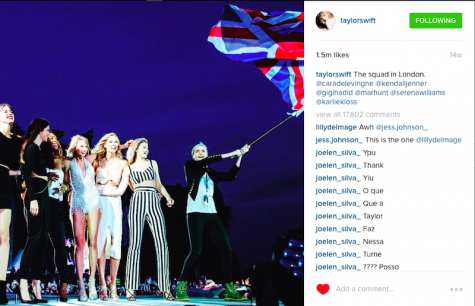 Swift featured 17 stars in her Bad Blood music video. Credit: Taylor Swift