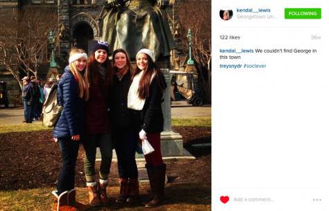 Senior Kendal Lewis shared this photo on Instagram on the March for Life in 2015.