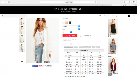 This is an example of your standard size chart you can use when deciding which size you should get. Credit: Forever 21