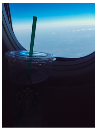 Tip: to avoid dehydration while flying, make sure to supply yourself with plenty of water. Stop at Starbucks after passing your terminal for a Venti ice water.