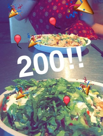 Senior Pia Roca, an avid lover of Chipotle, recently celebrated a momentous occasion in her life, eating her 200th bowl of Chipotle! Credit: Pia