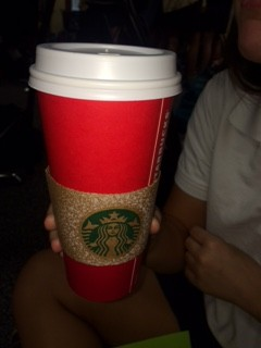 The new cup is a plain red cup the gradually fades into a deep cherry red