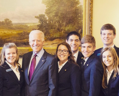 """Joe Biden is the nicest, most diplomatic person I have ever met,"" states senior Grace Baxter, who met the VP when she was involved with the U.S. Senate Page Program. ""I'm really upset he isn't running."""