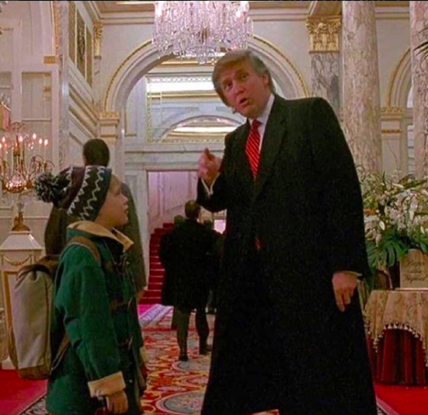Not only was Kevin McCallister lost in Home Alone 2, but so was Donald Trump's hair. Photo Credit: @realdonaldtrump on Instagram
