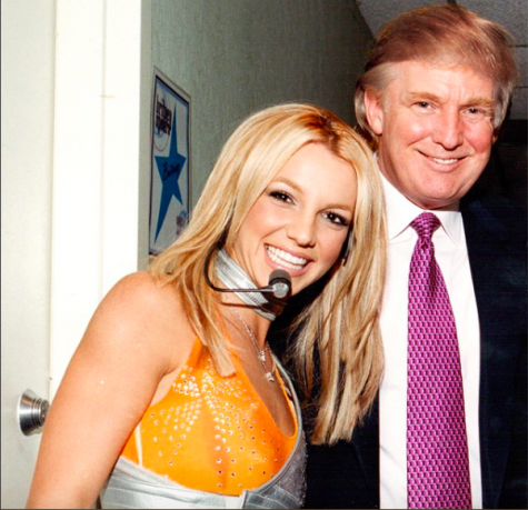 Meeting Britney Spears in the 2000s did not make Donald Trump realize his hair is Toxic. Photo Credit: @realdonaldtrump on Instagram