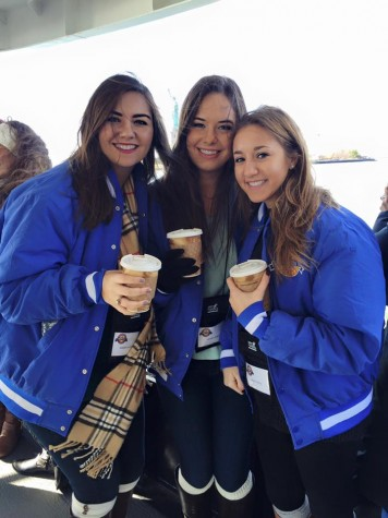 Credit: Maddie Matesich Keeping warm on the harbor boat with some coffee #floridians