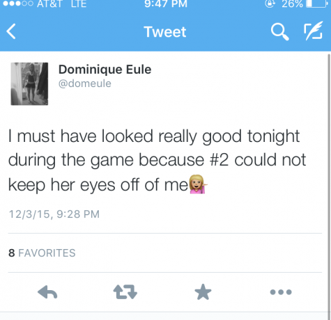 Tampa Catholic's #3 tweeted after Thursday nights game. The tweet was later deleted after several Academy girls responded having Ackerman's back.