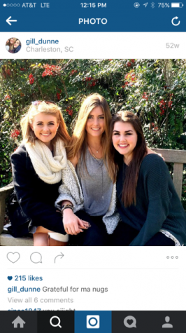 Gillian Dunne (12) with her two sisters, alumni, Cailin Dunne and Emma Dunne on Thanksgiving 2014.