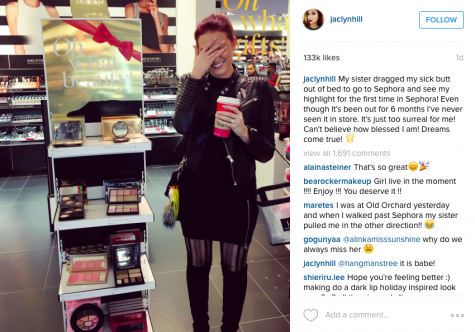 Jaclyn Hill in our very own international mall! Picture found on her Instagram (@jaclynhill)