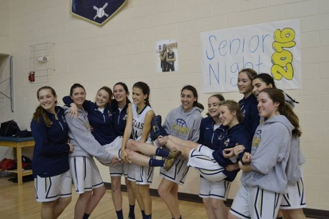 Senior Jags Bajo and Thompson had a special Senior Night with their underclassmen teammates to lift them up!