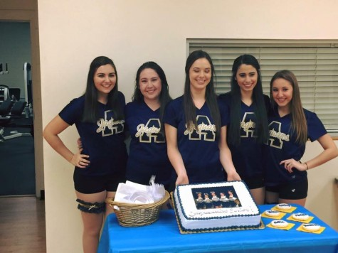 The Jaguarettes Seniors celebrated with a special cake with their fellow teammates