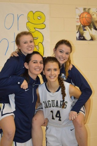 Basketball has allowed Christina Thompson, Megan Bajo, Alyssa Muir, and Devin Folkman to form an inseparable bond from endless hours of practices and games