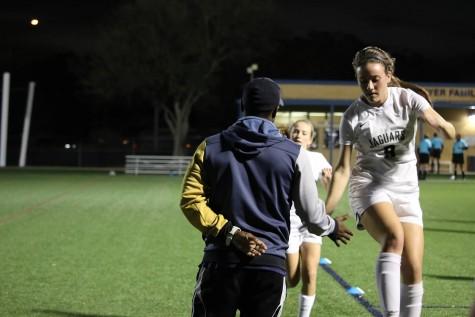 Credit: Blakely Byrd Senior Julie Lester getting pumped for the game