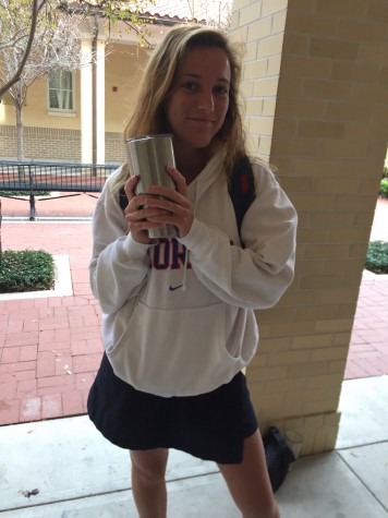 """""""You can put a slurpee in it and it will stay the perfect consistency all day! No more melted slurpees/iceys"""" exclaims senior Hadley Chillura."""