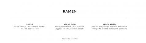 Ichicoro Ramen lunch menu. Credit: Ichicoro.com